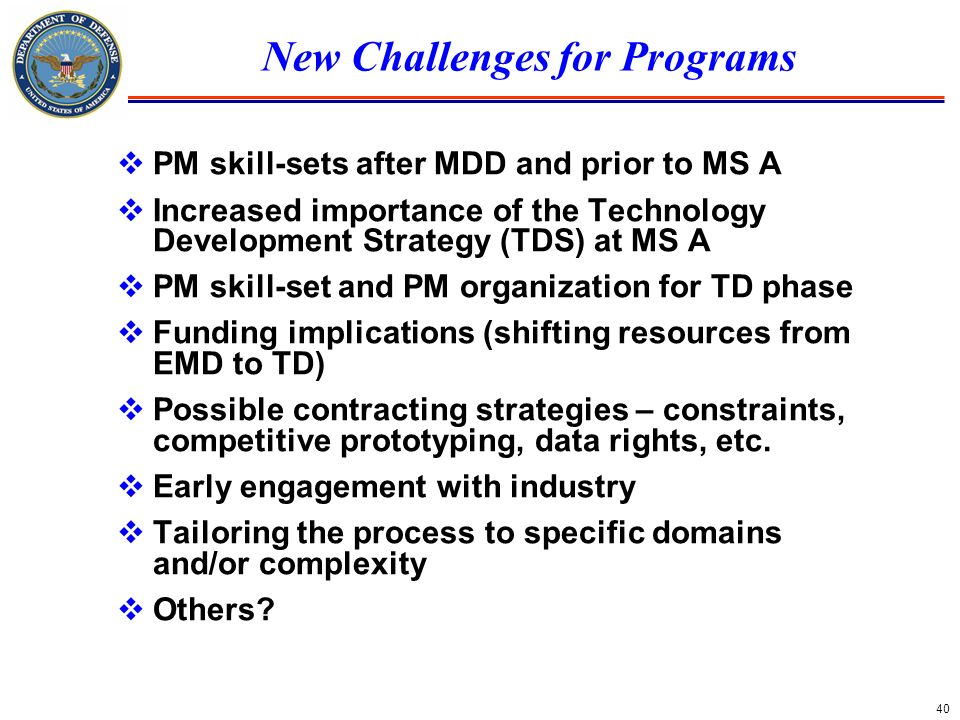 New Challenges for Programs