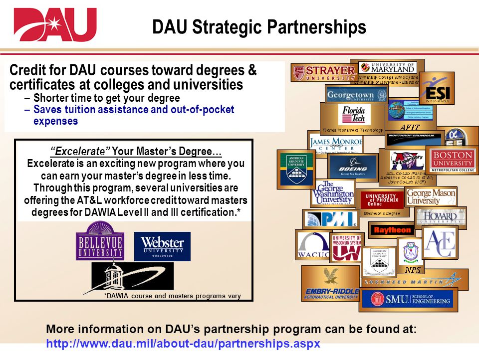 DAU Strategic Partnerships