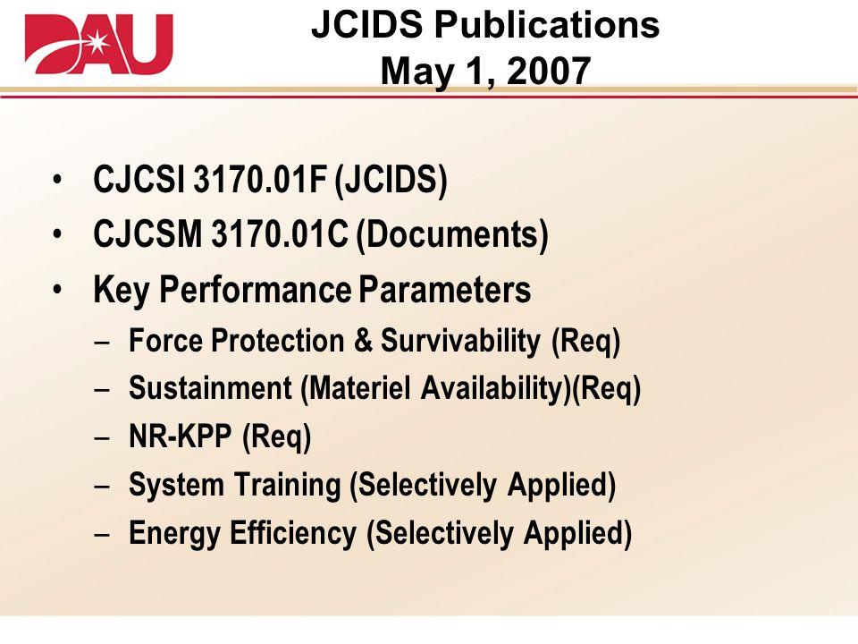 JCIDS Publications May 1, 2007