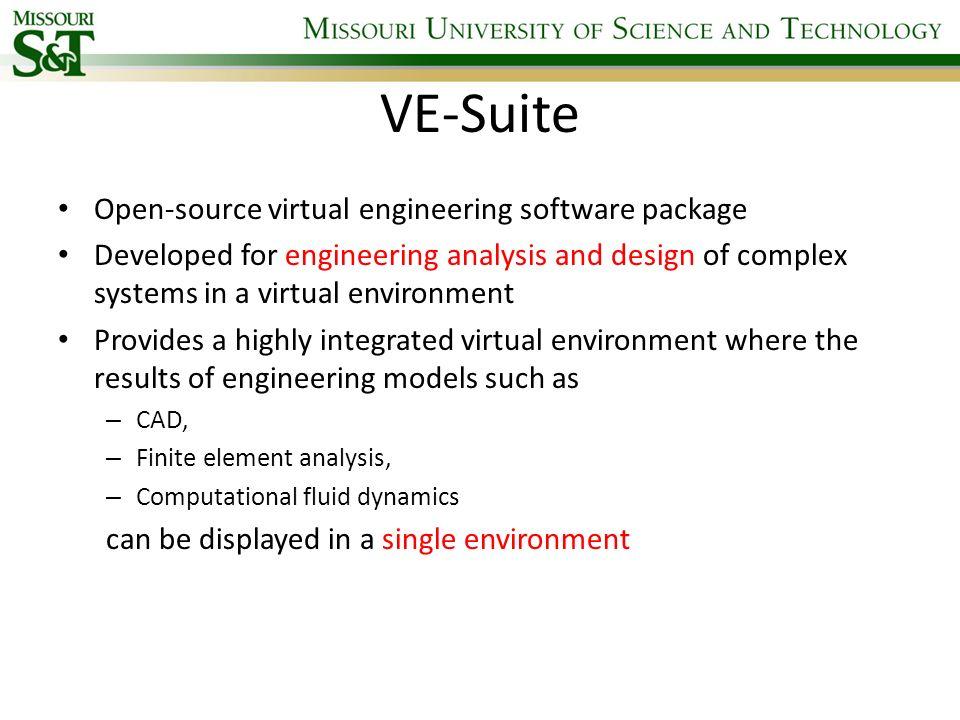 VE-Suite Open-source virtual engineering software package