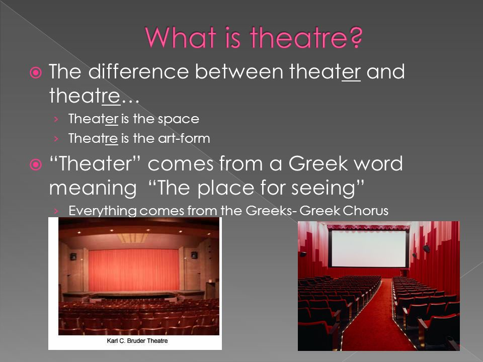 An introduction to theatre ppt download for What is the difference between space and place
