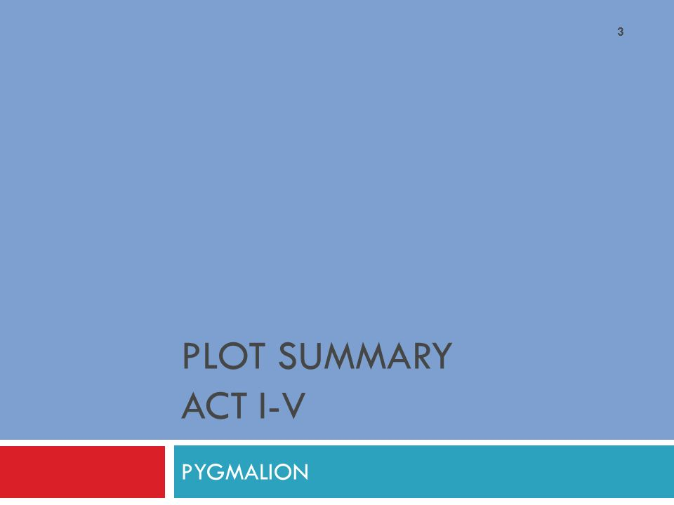 drama ii modern drama lecture ppt video online  3 plot summary act i v pyg on
