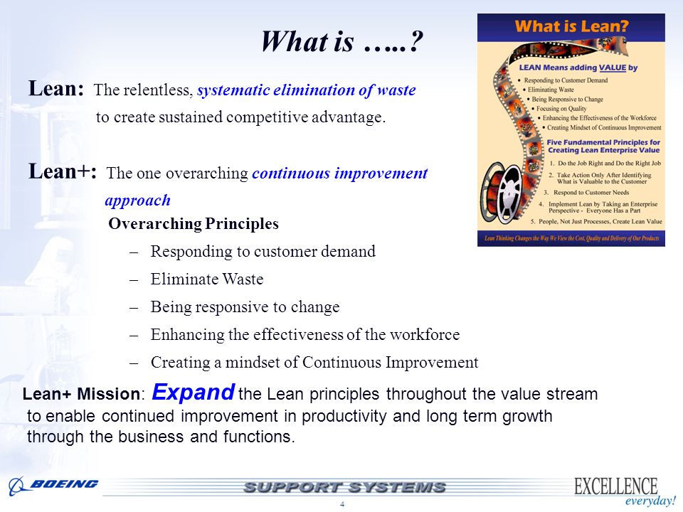 What is ….. Lean: The relentless, systematic elimination of waste