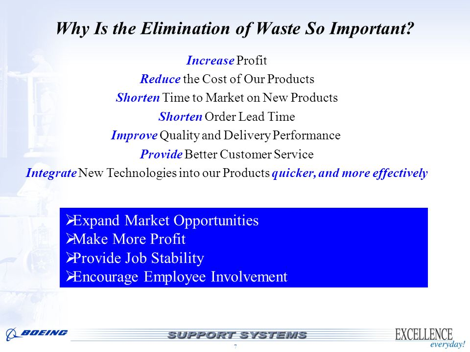 Why Is the Elimination of Waste So Important