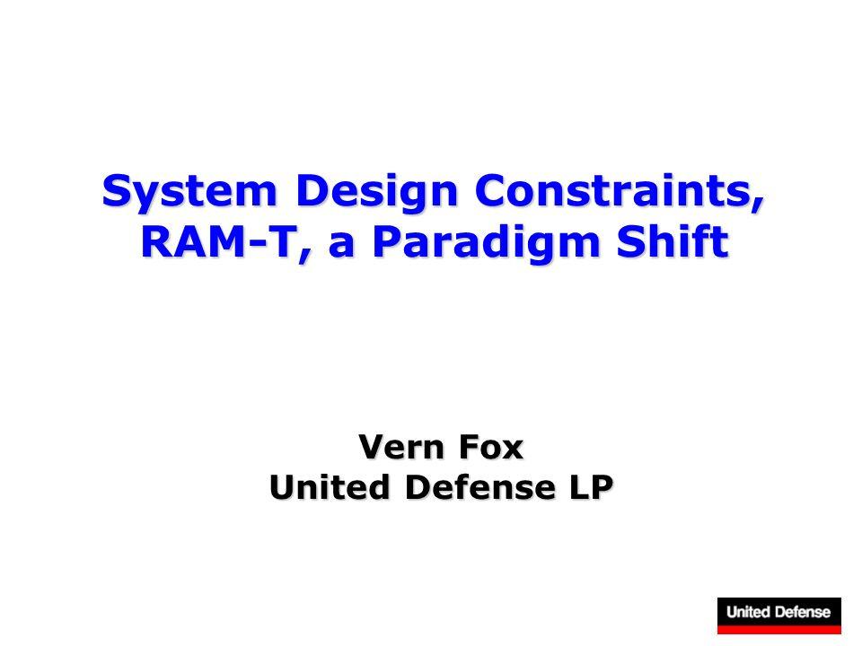 System Design Constraints, RAM-T, a Paradigm Shift