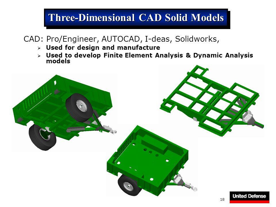 Three-Dimensional CAD Solid Models