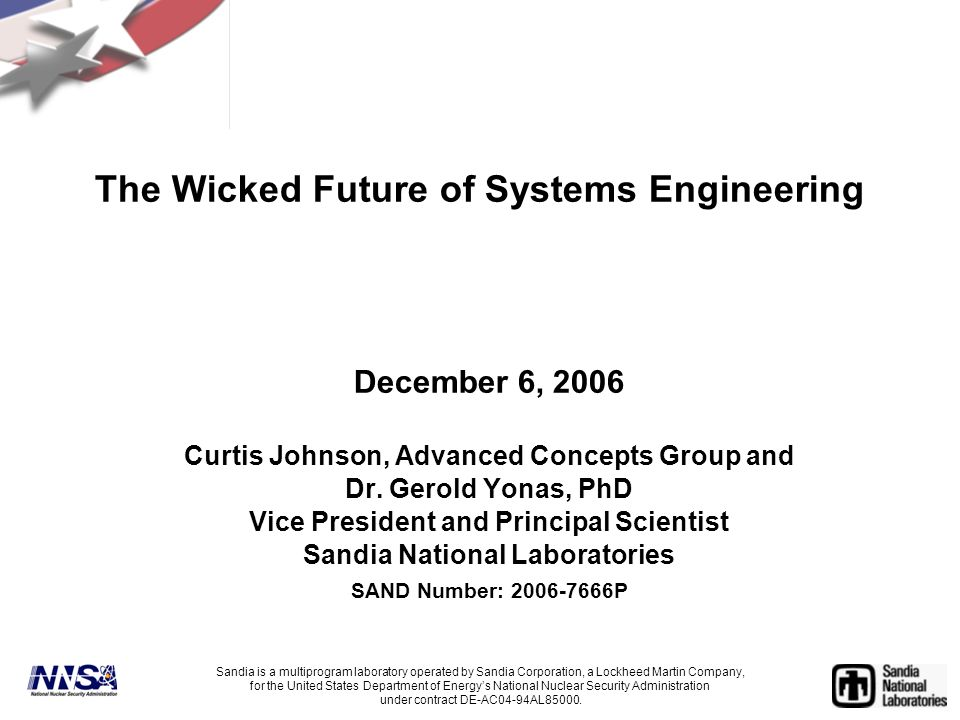 The Wicked Future of Systems Engineering