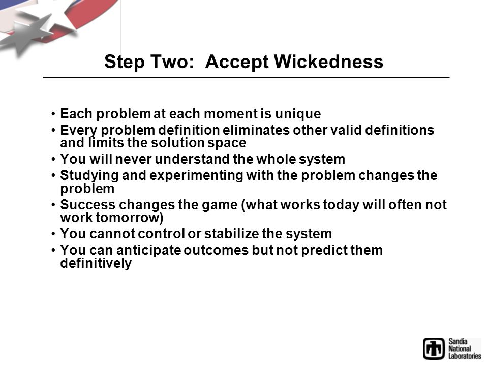 Step Two: Accept Wickedness