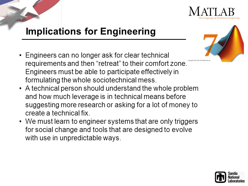 Implications for Engineering