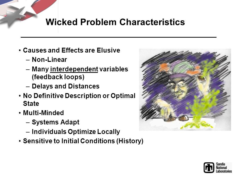 Wicked Problem Characteristics