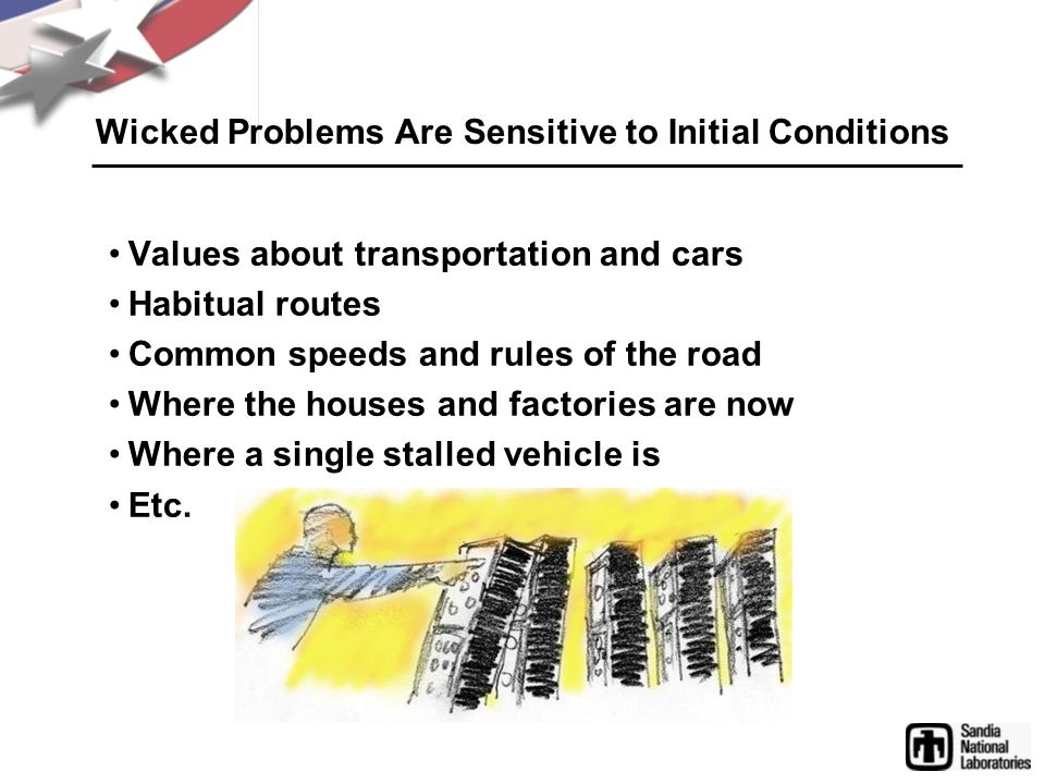 Wicked Problems Are Sensitive to Initial Conditions