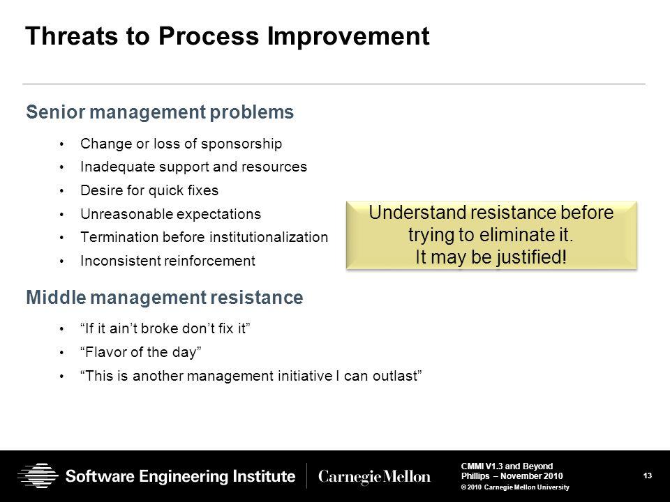 Threats to Process Improvement