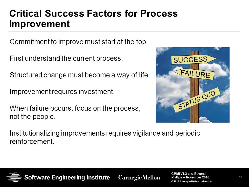 Critical Success Factors for Process Improvement