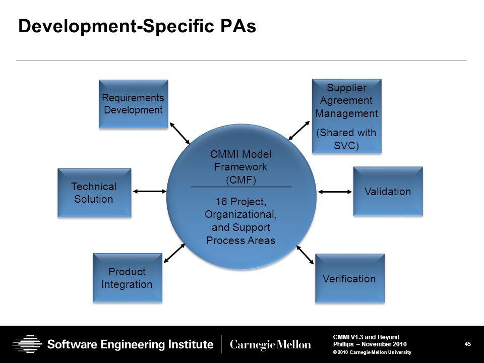 Development-Specific PAs