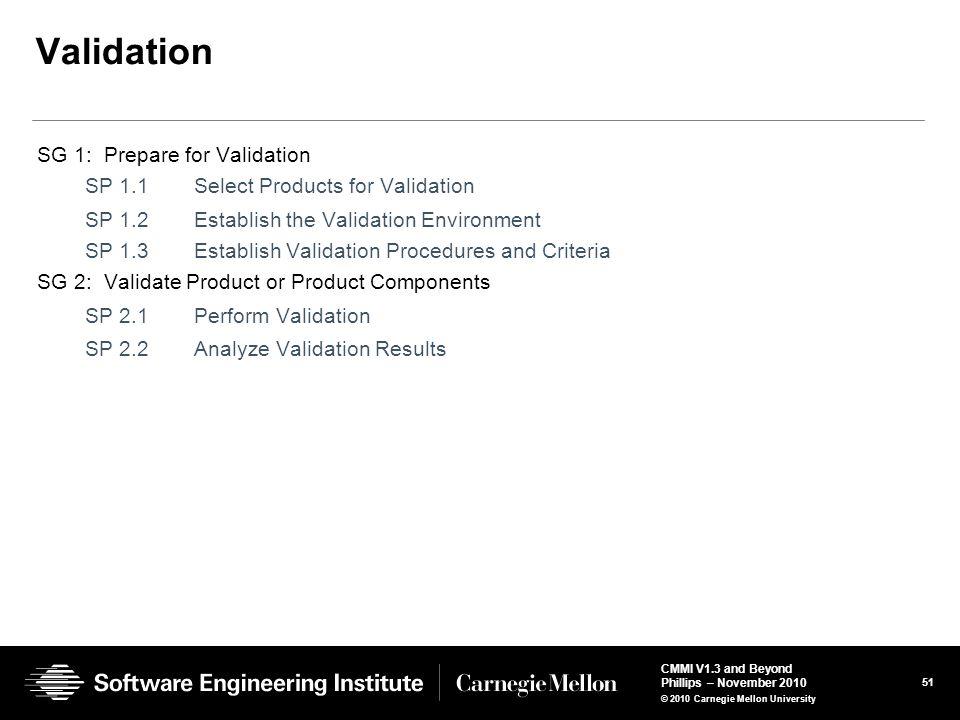 Validation SG 1: Prepare for Validation
