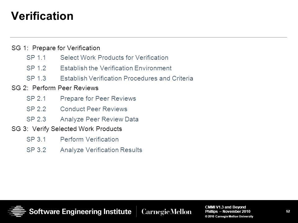 Verification SG 1: Prepare for Verification