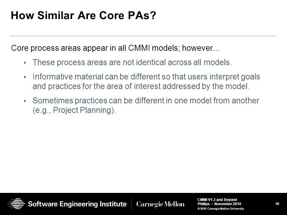 How Similar Are Core PAs
