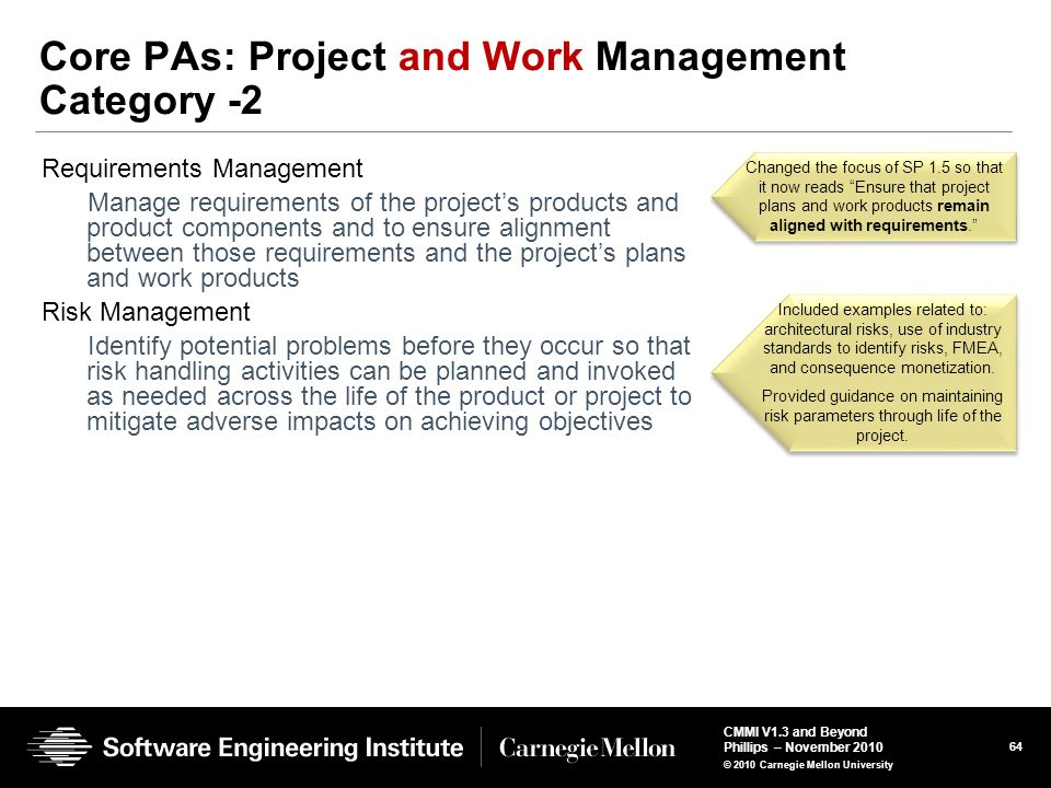 Core PAs: Project and Work Management Category -2