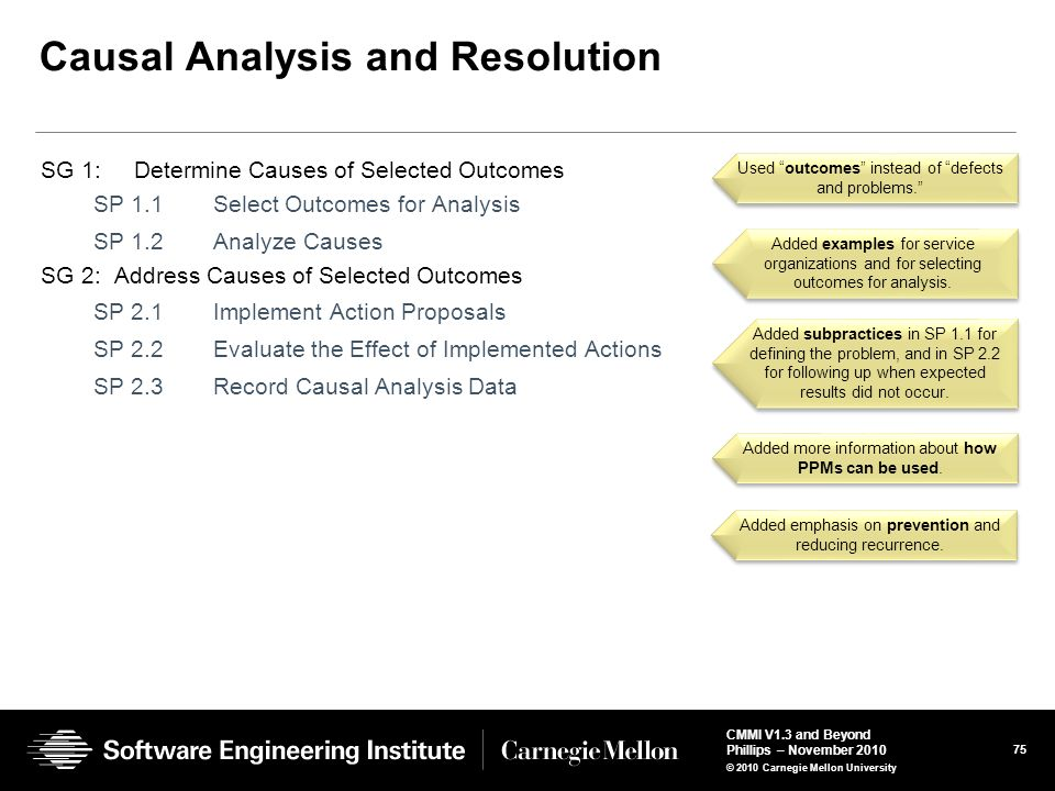 Causal Analysis and Resolution