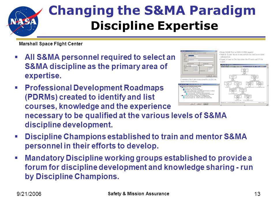 Changing the S&MA Paradigm Discipline Expertise