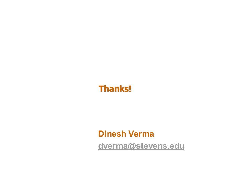 Dinesh Verma dverma@stevens.edu