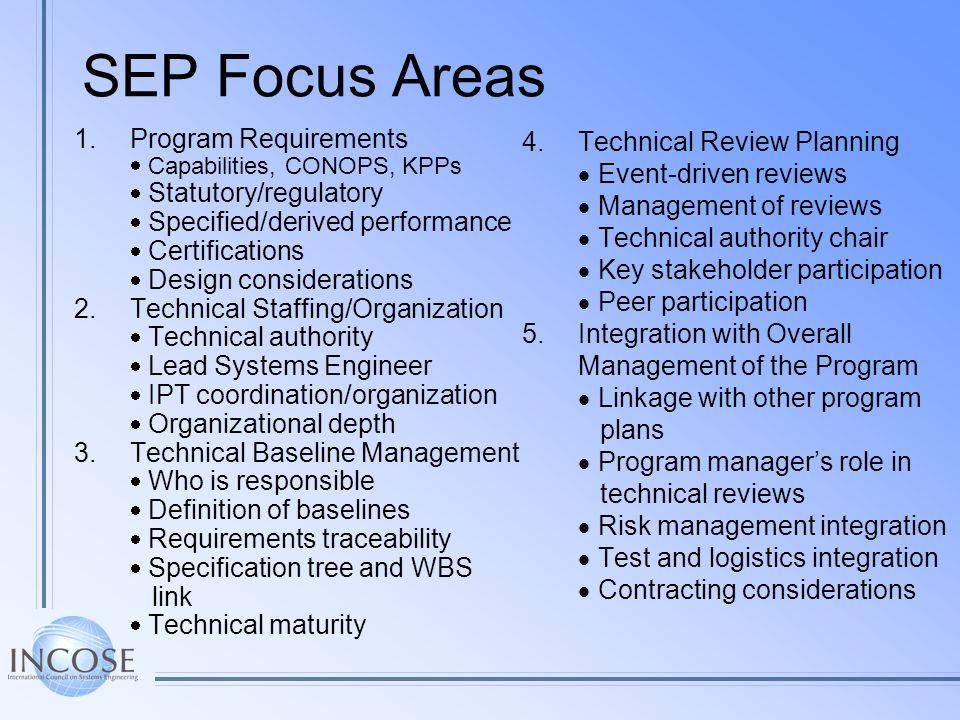 SEP Focus Areas