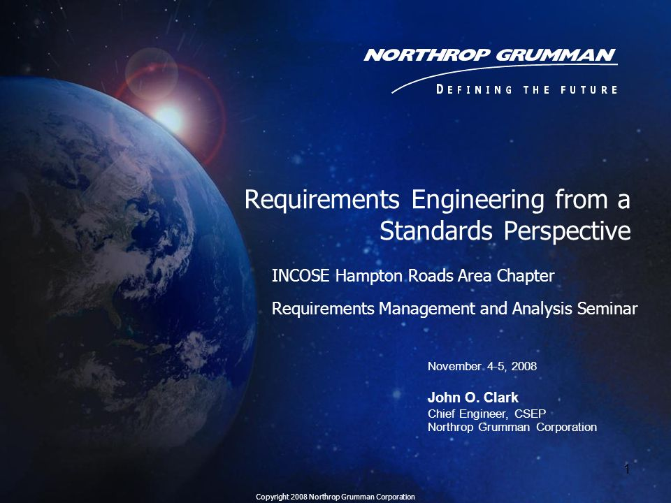 Requirements Engineering from a Standards Perspective