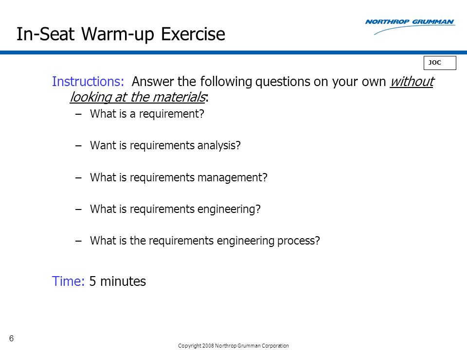 In-Seat Warm-up Exercise