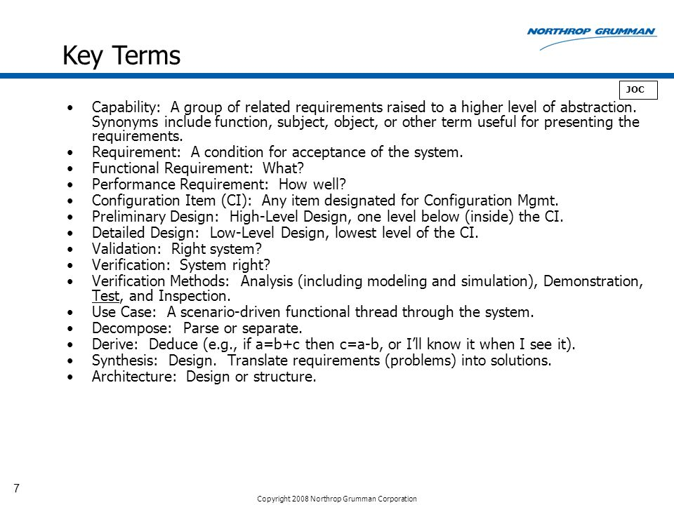 Key Terms JOC.