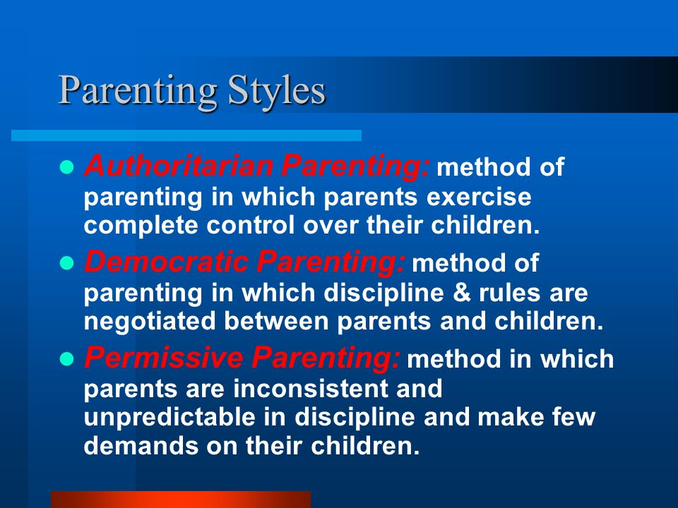 parents control over what their children It seems that most kids will have times when they will try to control their parents  why do children try to control parents  the parent with some control over.
