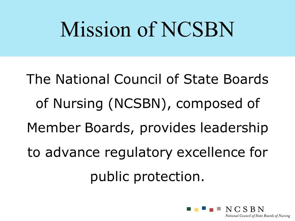 Mission of NCSBN