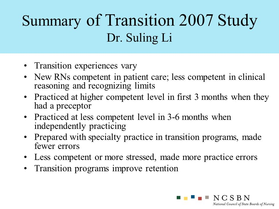 Summary of Transition 2007 Study Dr. Suling Li