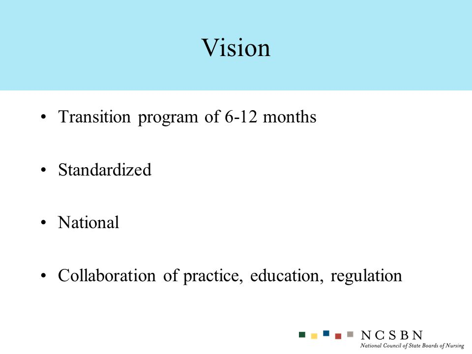 Vision Transition program of 6-12 months Standardized National