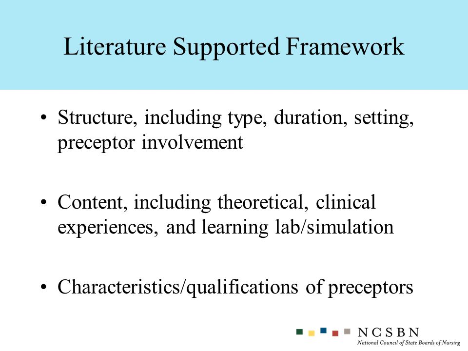 Literature Supported Framework