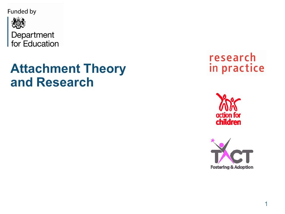 research on attachment theory The roots of research on attachment began with freud's theories about love, but another researcher is usually credited as the father of attachment theory john bowlby devoted extensive research to the concept of attachment, describing it as a lasting psychological connectedness between human beings.