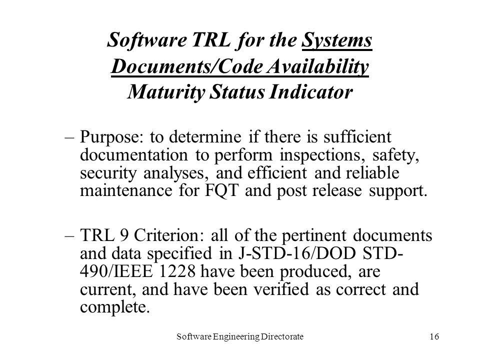 Software Engineering Directorate
