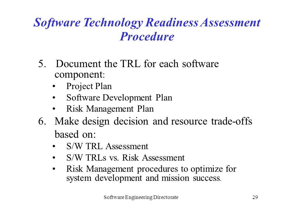 Software Technology Readiness Assessment