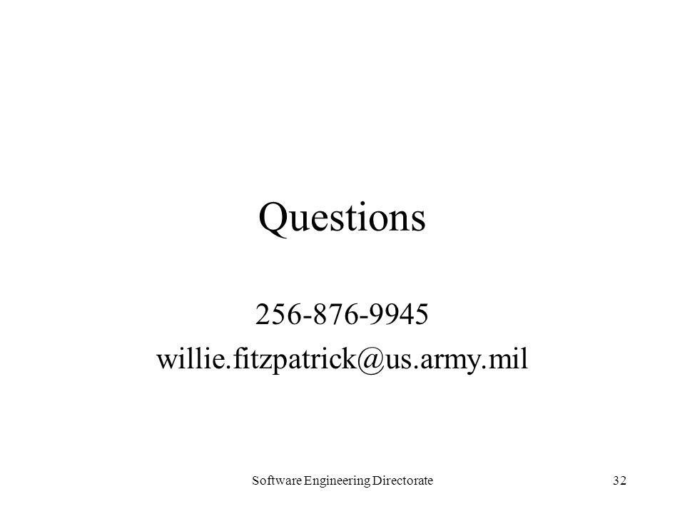 256-876-9945 willie.fitzpatrick@us.army.mil