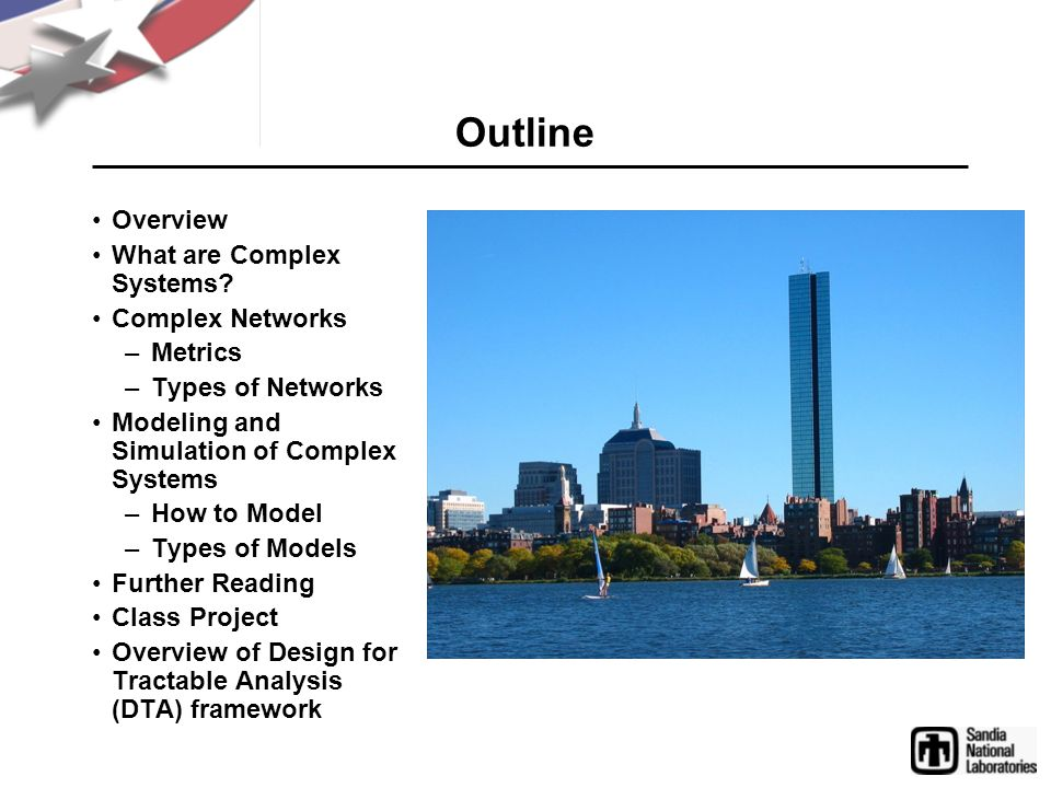 Outline Overview What are Complex Systems Complex Networks Metrics