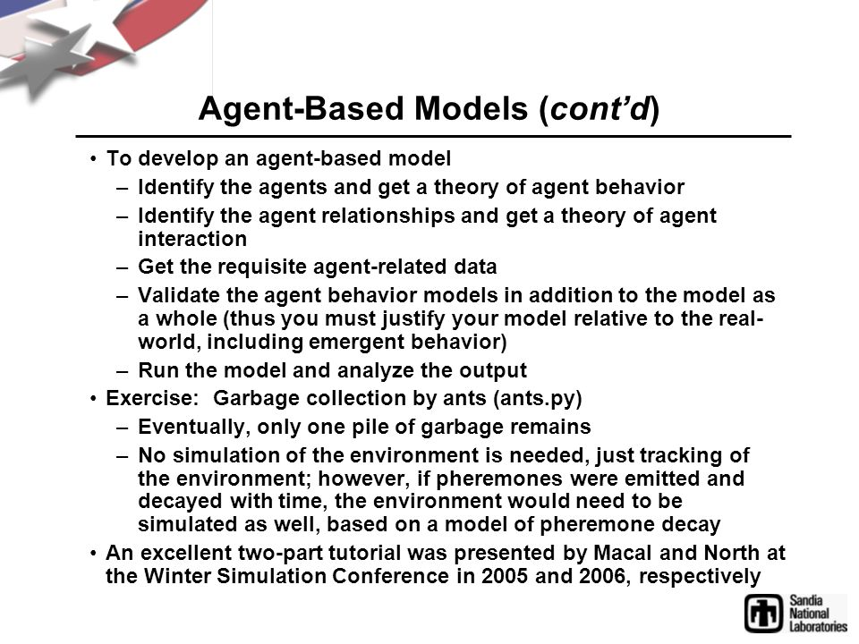 Agent-Based Models (cont'd)