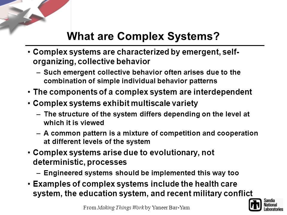 What are Complex Systems