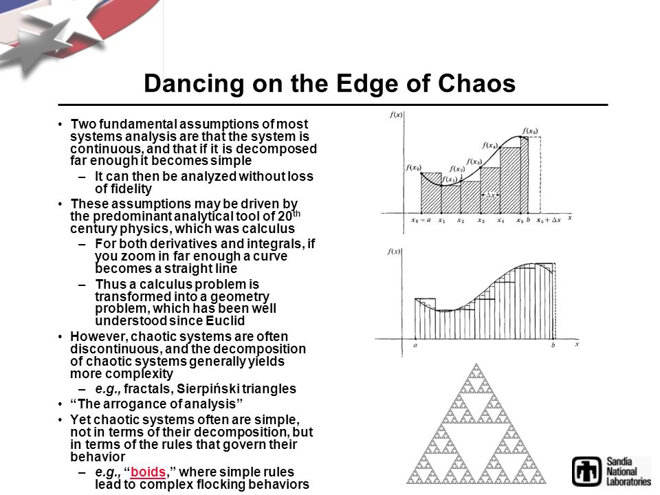 Dancing on the Edge of Chaos