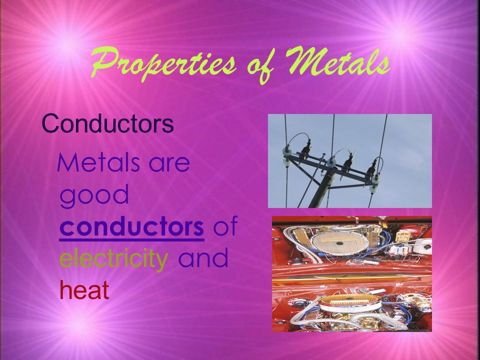 Properties of Metals Conductors
