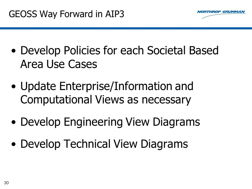 GEOSS Way Forward in AIP3