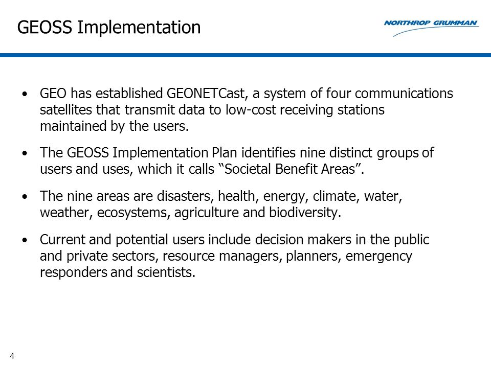 GEOSS Implementation