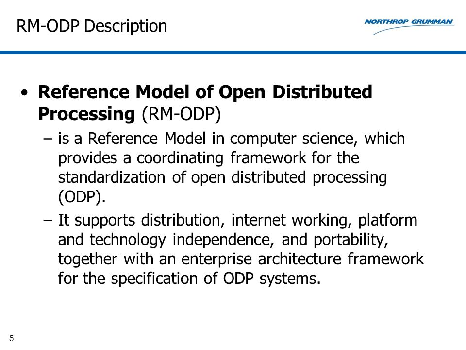 Reference Model of Open Distributed Processing (RM-ODP)