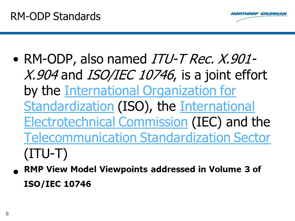 RMP View Model Viewpoints addressed in Volume 3 of ISO/IEC 10746