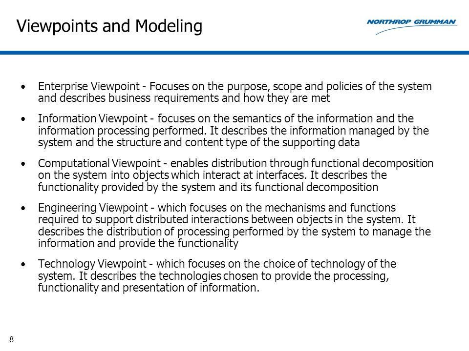 Viewpoints and Modeling