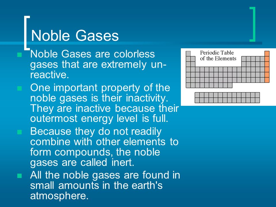 Periodic Table where are the noble gases on the periodic table located : Periodic Table of Elements - ppt video online download