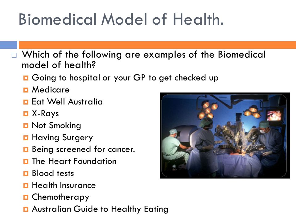 biomedical model of health This assignment defines the biomedical model of health including detailed advantages, disadvantages and criticisms undergraduate 2:1 assignment.